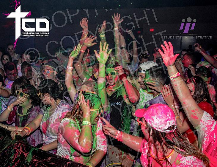 Technocolour Dreams Paint Party at Cambrian  College